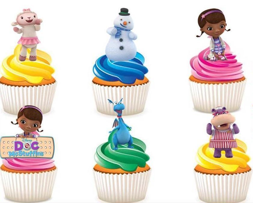 Doc McStuffins Edible Stand Up Wafer Paper Cupcake Toppers