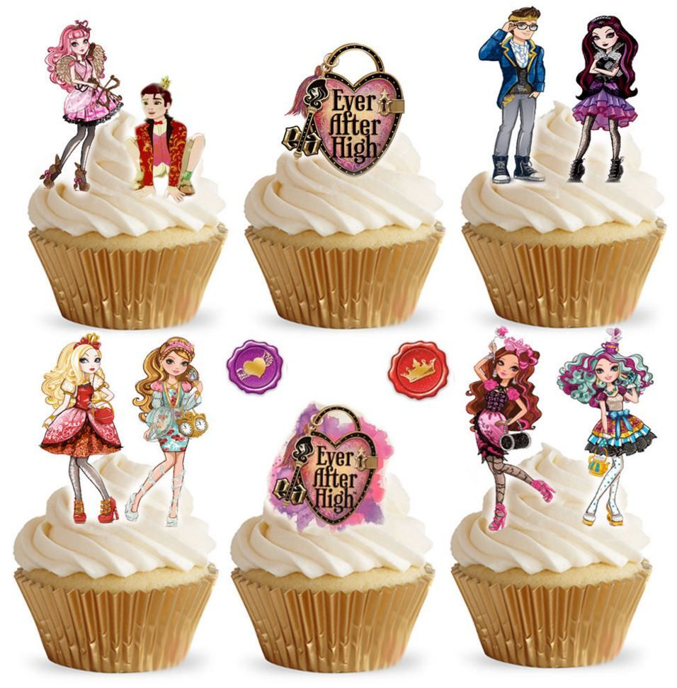 Ever After High Edible Stand Up Wafer Paper Cupcake Toppers
