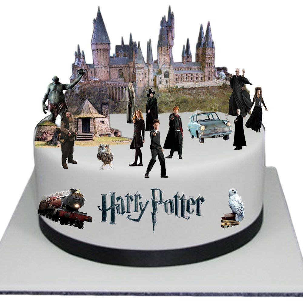 Harry Potter Edible Wafer Card Cake Topper Scene