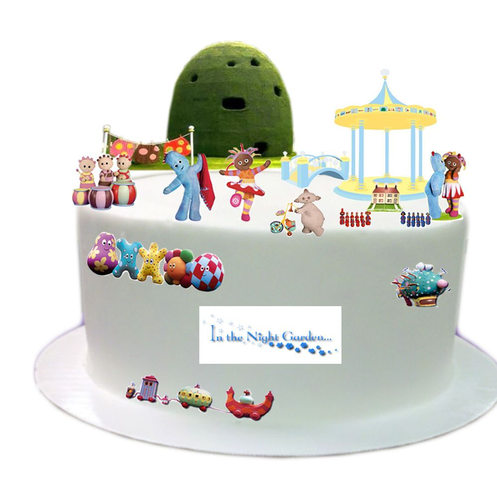 In the Night Garden Edible Wafer Card Cake Topper Scene