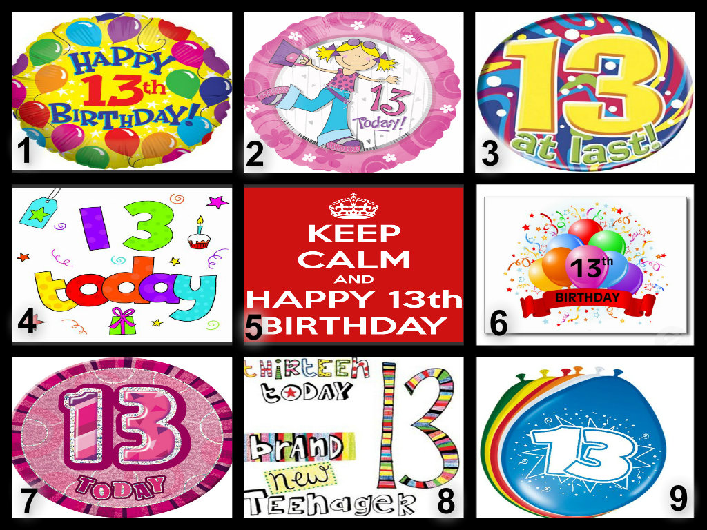 Personalised 13th Birthday Edible Cake Topper Wafer Paper ...