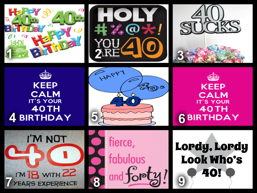 Personalised 40th Birthday Edible Cake Topper Wafer Paper Icing Paper