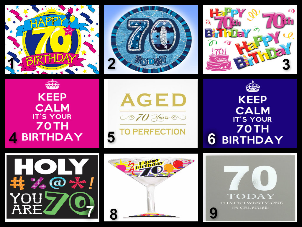 Personalised 70th Birthday Edible Cake Topper Wafer Paper Icing Paper