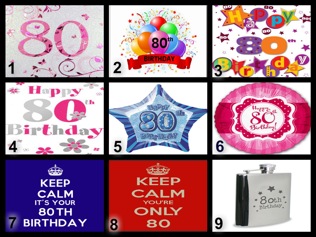 Personalised 80th Birthday Edible Cake Topper Wafer Paper Icing Paper