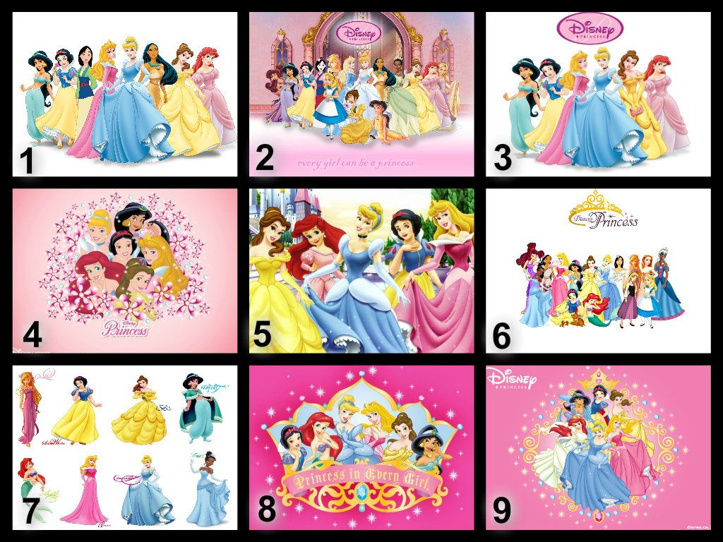 Personalised Disney Princesses Edible Cake Topper Wafer ...