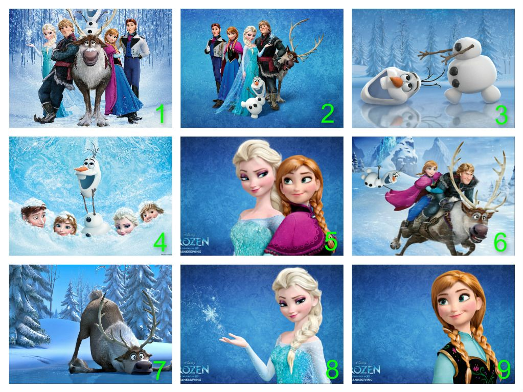 Frozen Cupcake Toppers Personalised frozen edible