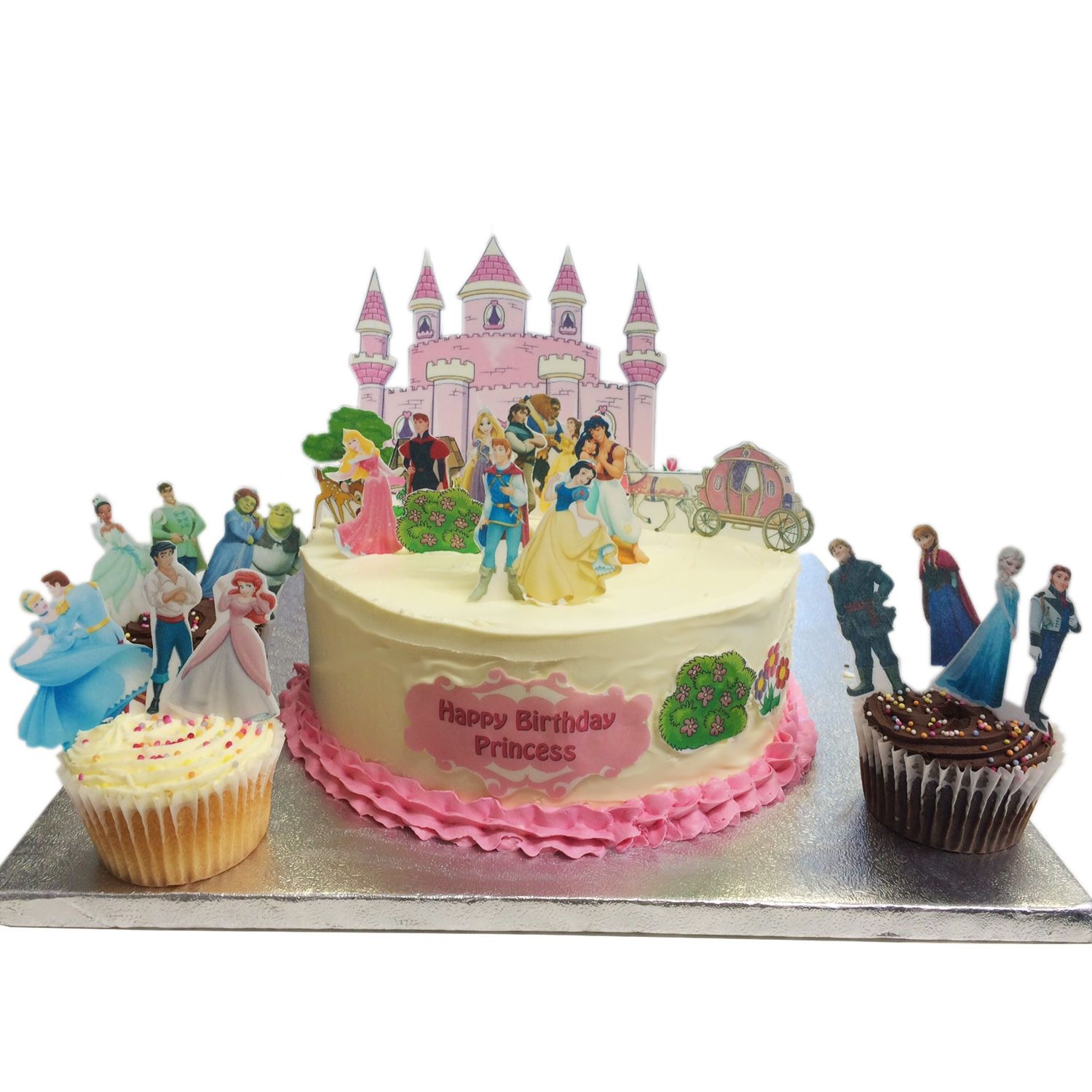 Make Disney Princess Castle Cake Games Cake