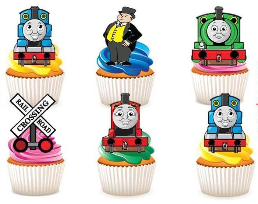 Edible Thomas Cake Decoration : Thomas the Tank Engine Edible Stand Up Wafer Paper Cupcake ...