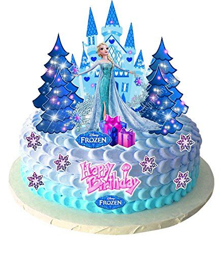 Elsa Frozen Edible Stand Up Wafer Paper Cupcake Toppers