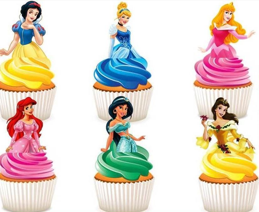 Disney Princess Edible Cake Toppers