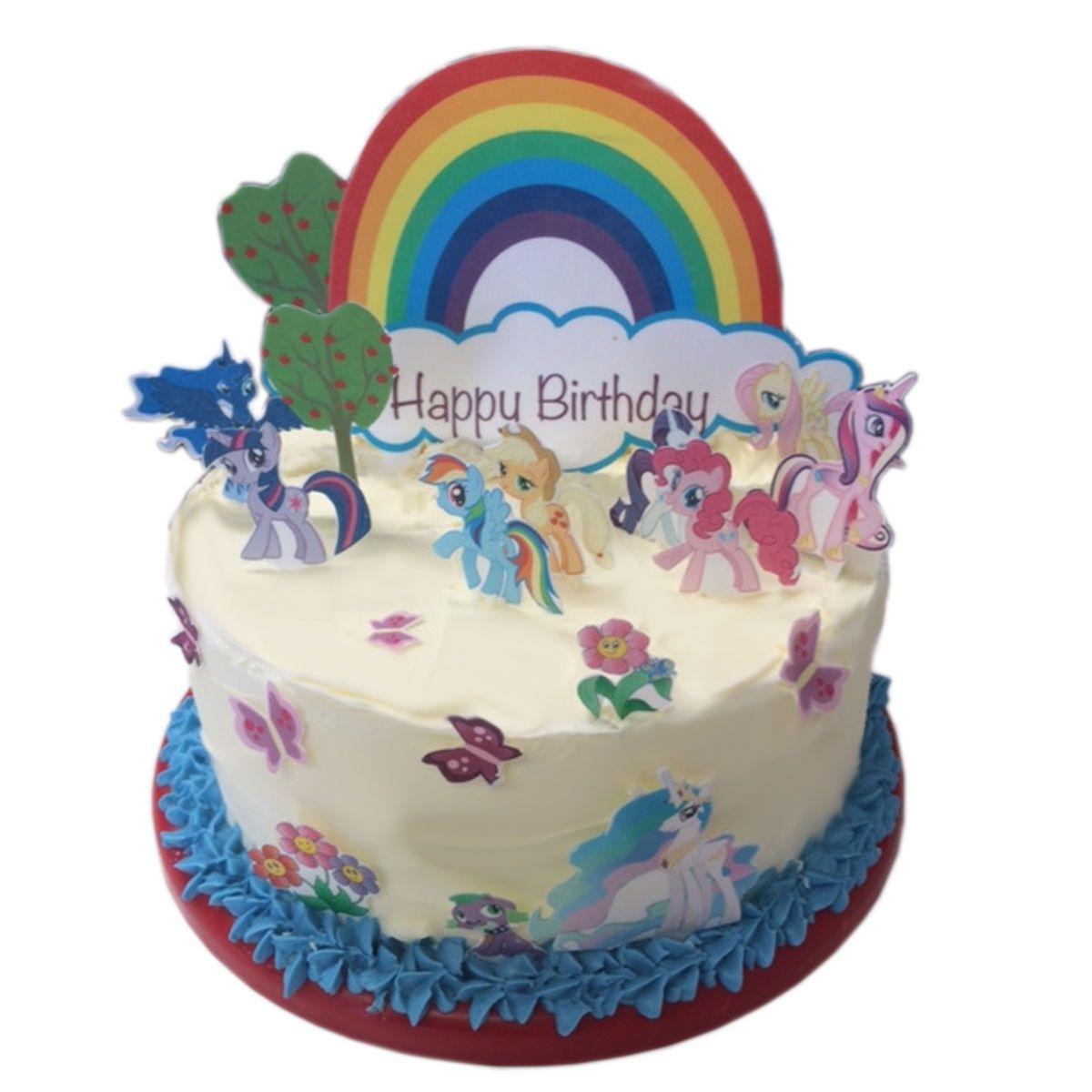 My Little Pony Edible Wafer Card Cake Topper Scene