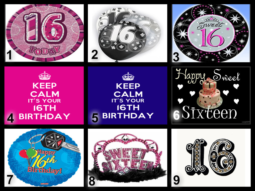 Personalised 16th Birthday Edible Cake Topper Wafer Paper Icing