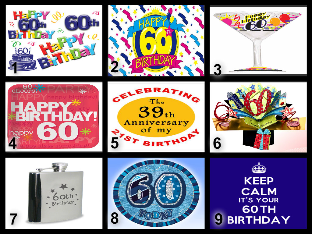 Phenomenal Personalised 60Th Birthday Edible Cake Topper Wafer Paper Icing Funny Birthday Cards Online Bapapcheapnameinfo