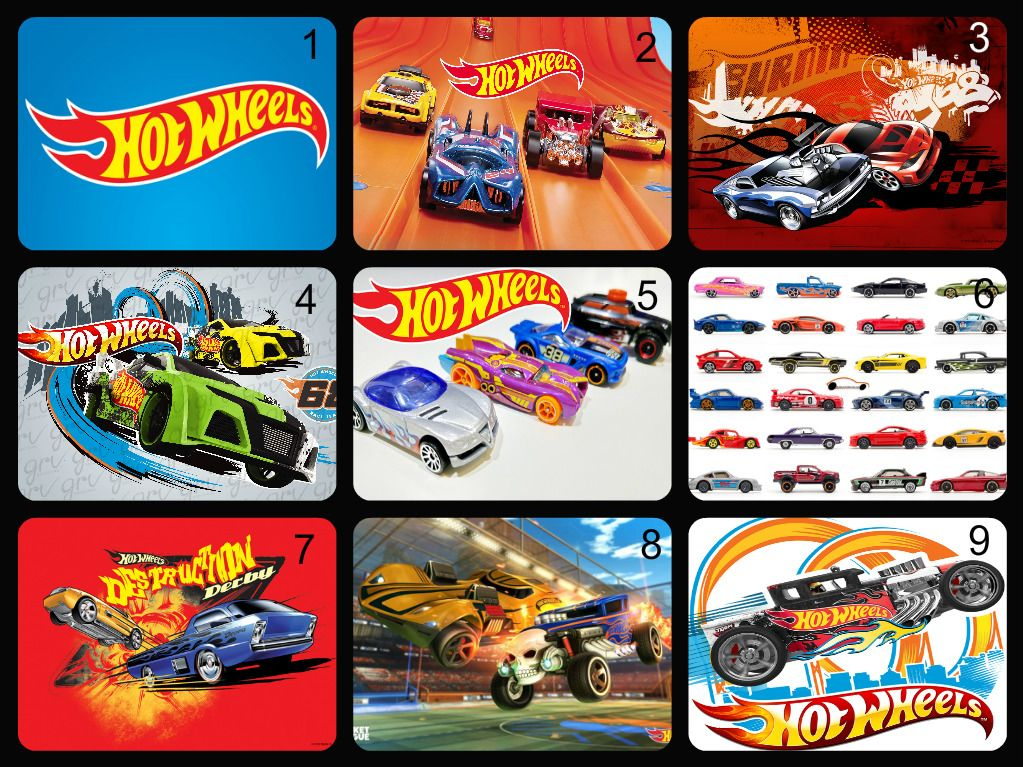 Personalised Edible Hot Wheels Car Cake Topper Wafer Paper Icing Paper