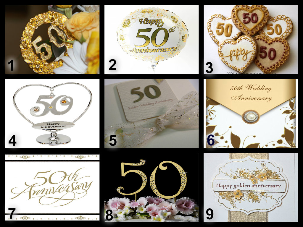 Personalised Golden Wedding Anniversary Edible Cake Topper Wafer