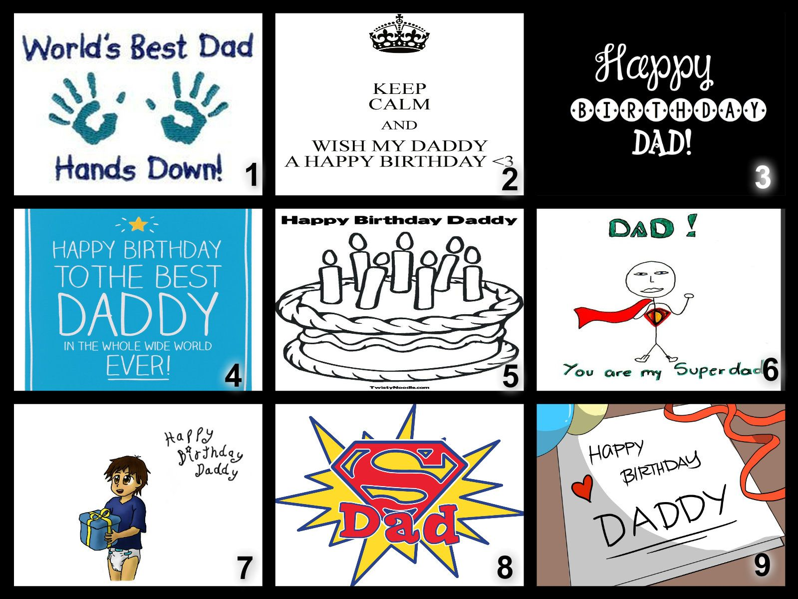 Personalised Happy Birthday Dad Edible Cake Topper Wafer Paper Icing