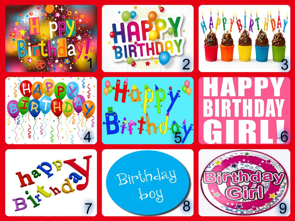 Personalised Happy Birthday Edible Cake Topper Wafer Paper Icing