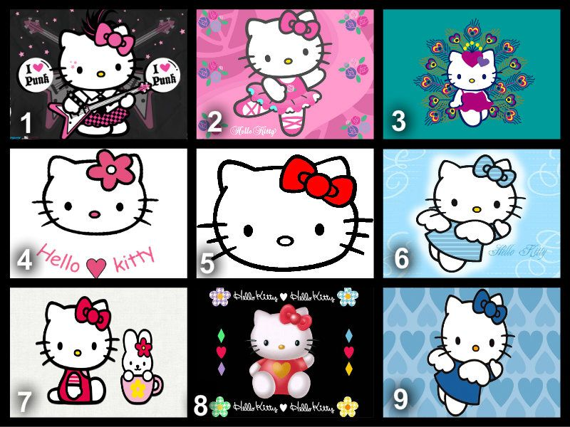 Personalised Hello Kitty Edible Cake Topper Wafer Paper Icing Paper
