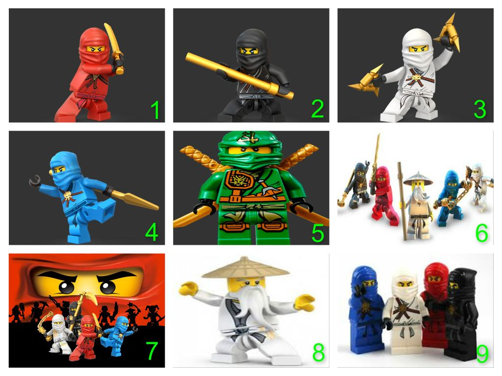 Personalised Lego Ninjago Edible Cake Topper Wafer Paper