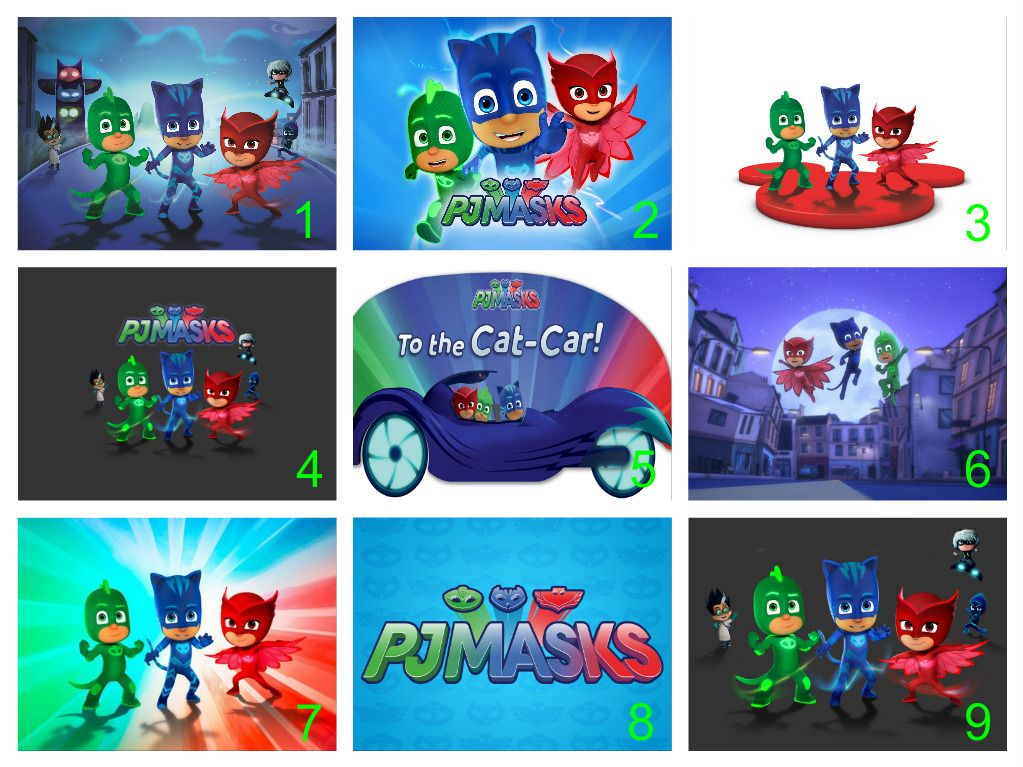 Personalised PJ Masks Edible Cake Topper Wafer Paper/Icing ...