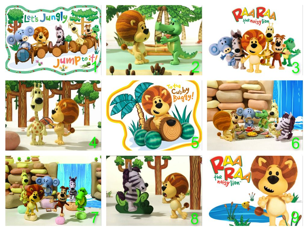 Personalised Raa Raa The Noisy Lion Edible Cake Topper Wafer Paper