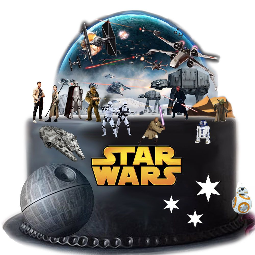 star wars cake decorations wars edible wafer card cake topper 7672
